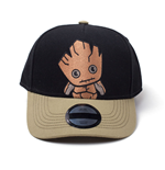 MARVEL COMICS Guardians of the Galaxy Vol.2 Kawaii Groot Patch Curved Bill Cap, Black/Tan