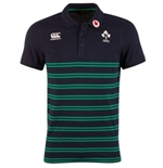 Ireland Cotton Stripes Rugby Polo (Black-Green)