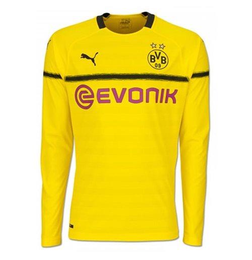 low priced 5b1e2 beda0 2018-2019 Borussia Dortmund Home UCL Long Sleeve Puma Shirt