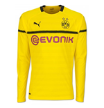 2018-2019 Borussia Dortmund Home UCL Long Sleeve Puma Shirt
