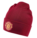 2018-2019 Man Utd Adidas 3S Woolie Hat (Red)
