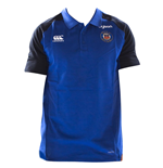 2018-2019 Bath Rugby Vapordri Performance Cotton Polo Shirt (Blue)