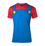 NINTENDO Super Mario Bros. Mario Novelty Cosplay T-Shirt, Male, Extra Large, Multi-colour
