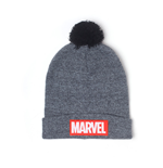 MARVEL COMICS Logo Patch Rollup Beanie, Grey