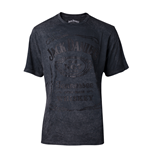 Jack Daniel's - Structured Label Acid Washed Men's T-shirt