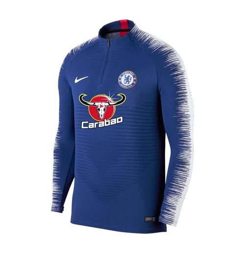 2018-2019 Chelsea Nike Strike Vaporknit Drill Top (Blue)
