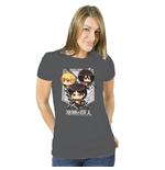 Attack on Titan Ladies T-Shirt Cartoon Group