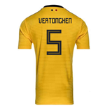 2018-2019 Belgium Away Adidas Football Shirt (Vertonghen 5) - Kids