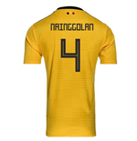 2018-2019 Belgium Away Adidas Football Shirt (Nainggolan 4)