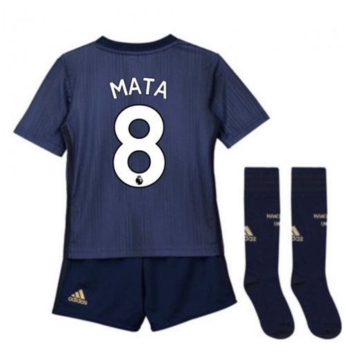brand new 7bb65 ce675 2018-2019 Man Utd Adidas Third Little Boys Mini Kit (Mata 8)