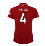 2018-2019 Liverpool Home Ladies Football Shirt (Virgil 4)