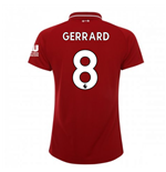 2018-2019 Liverpool Home Ladies Football Shirt (Gerrard 8)