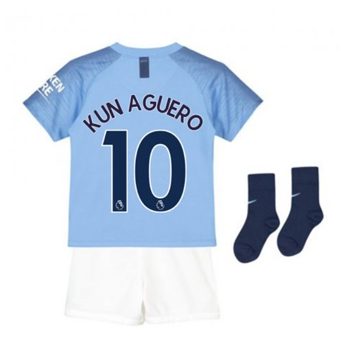 super popular 5c0ff de0ba 2018-2019 Man City Home Nike Baby Kit (Kun Aguero 10)