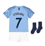 2018-2019 Man City Home Nike Little Boys Mini Kit (Sterling 7)