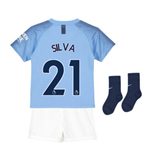2018-2019 Man City Home Nike Little Boys Mini Kit (Silva 21)