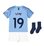2018-2019 Man City Home Nike Little Boys Mini Kit (Sane 19)