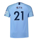 2018-2019 Man City Nike Vapor Home Match Shirt (Silva 21)