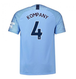 2018-2019 Man City Nike Vapor Home Match Shirt (Kompany 4)