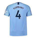 2018-2019 Man City Home Nike Football Shirt (Kompany 4)