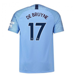 2018-2019 Man City Home Nike Football Shirt (De Bruyne 17) - Kids