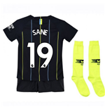 2018-2019 Man City Away Nike Little Boys Mini Kit (Sane 19)