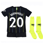 2018-2019 Man City Away Nike Little Boys Mini Kit (Bernardo 20)