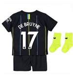 2018-2019 Man City Away Nike Baby Kit (De Bruyne 17)