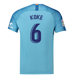 2018-19 Atletico Madrid Away Football Shirt (Koke 6)