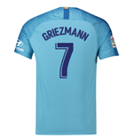 2018-19 Atletico Madrid Away Football Shirt (Griezmann 7)
