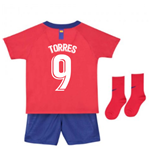 2018-2019 Atletico Madrid Home Nike Baby Kit (Torres 9)