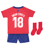 2018-2019 Atletico Madrid Home Nike Baby Kit (Diego Costa 18)