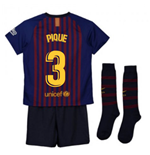 2018-2019 Barcelona Home Nike Little Boys Mini Kit (Pique 3)