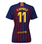 2018-2019 Barcelona Home Nike Ladies Shirt (O Dembele 11)