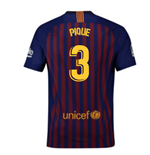 2018-2019 Barcelona Home Nike Football Shirt (Pique 3)