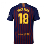 2018-2019 Barcelona Home Nike Football Shirt (Jordi Alba 18) - Kids