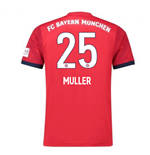 2018-2019 Bayern Munich Adidas Home Football Shirt (Muller 25)