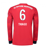 2018-2019 Bayern Munich Adidas Home Long Sleeve Shirt (Thiago 6)