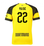 2018-2019 Borussia Dortmund Puma Home Football Shirt (Pulisic 22)