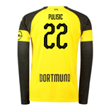 2018-2019 Borussia Dortmund Home Long Sleeve Puma Shirt (Pulisic 22)