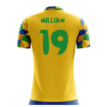 2018-2019 Brazil Home Concept Football Shirt (Willian 19)