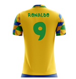 2018-2019 Brazil Home Concept Football Shirt (Ronaldo 9) - Kids
