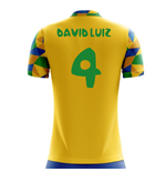 2018-2019 Brazil Home Concept Football Shirt (David Luiz 4) - Kids
