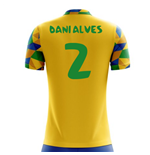 2018-2019 Brazil Home Concept Football Shirt (Dani Alves 2) - Kids