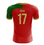 2018-2019 Portugal Flag Home Concept Football Shirt (Nani 17) - Kids