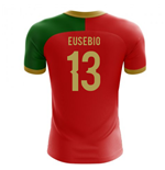 2018-2019 Portugal Flag Home Concept Football Shirt (Eusebio 13) - Kids