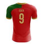 2018-2019 Portugal Flag Home Concept Football Shirt (Eder 9)
