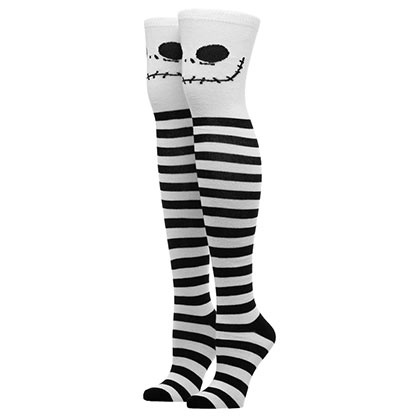 NIGHTMARE BEFORE CHRISTMAS Jack Skellington Knee High Socks