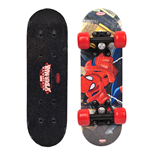 MARVEL COMICS Ultimate Spider-man Kid's 17-Inch Maple Wood Mini Skateboard Cruiser, Black/Red