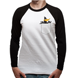 Looney Tunes - Daffy Pocket - Unisex Baseball Shirt White