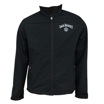 Jack Daniel's Softshell Men's Zipper Black Jacket